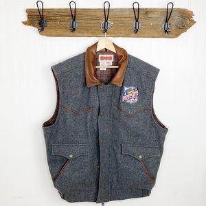 Schaefer Outfitters Wool Vest 2005 Wrangler National Finals Rodeo Las Vegas NEW